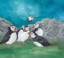 """""""Puffin Party"""" by Jules Summers"""