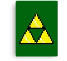 8 Bit Triforce pixel Canvas Print