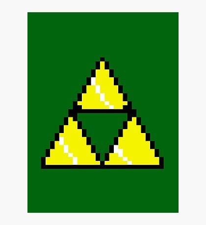 8 Bit Triforce pixel Photographic Print
