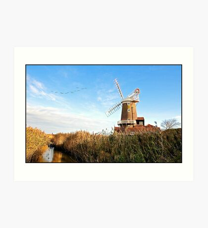 Cley Windmill Norfolk Art Print