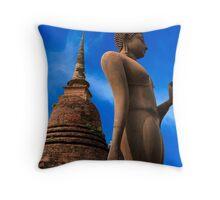 Buddha Statue Throw Pillow