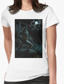 Howl of the Werewolf Womens Fitted T-Shirt