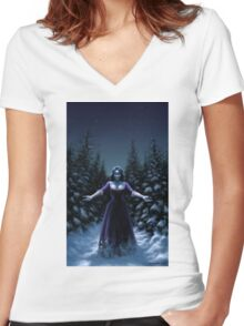 Cold Blood Women's Fitted V-Neck T-Shirt