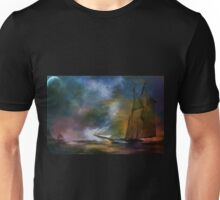 The meeting in the moonlight. Unisex T-Shirt