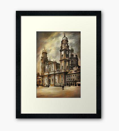 Theatine Church, Munich 1900 Framed Print