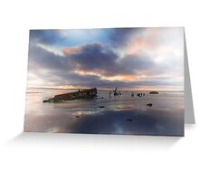 The Wreck in Landscape Greeting Card