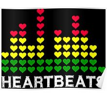 Heartbeats Equalizer (white) Poster