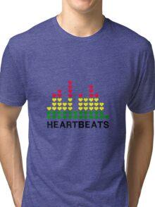 Heartbeats Equalizer Tri-blend T-Shirt