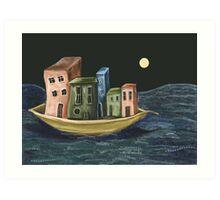 The Floating Village Art Print