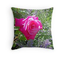 Pink beauty Throw Pillow