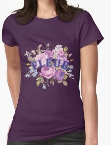 Floral Shabby Chic Graphic Design T-Shirt