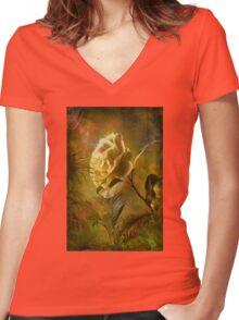 Rose ........ Women's Fitted V-Neck T-Shirt