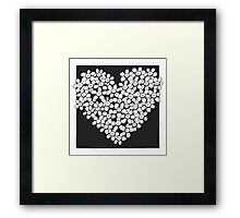 I love you flower Framed Print