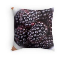 Bowl of Blackberries Throw Pillow