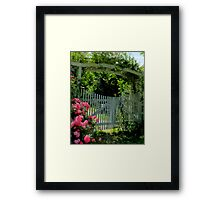 There is a Garden... Framed Print