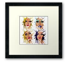 Drag Race Paintball Framed Print