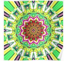 Lime Green Citrus Abstract Poster