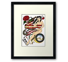 Live Ride Play Hard Framed Print