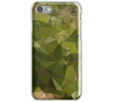 Olive Green Abstract Low Polygon Background iPhone Case/Skin