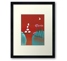 Balancing Sheep Framed Print