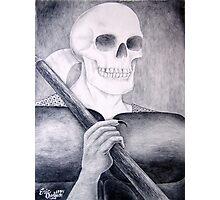 Death's Smile or Grim Reaper Photographic Print