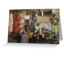 Street Scene in Rural India Greeting Card