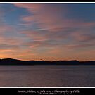 Sunrise panorama, Hobart, 17 July 2010 by Odille Esmonde-Morgan