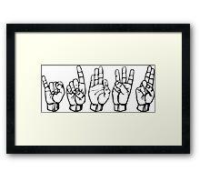 IDFWU Sign Language Framed Print