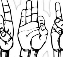 IDFWU Sign Language Sticker