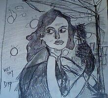 doodling..brunette's eye...bit flapper style!!. by tim norman