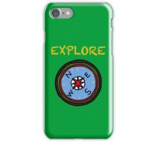 Camping compass  iPhone Case/Skin