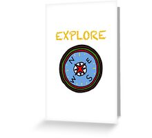Camping compass  Greeting Card