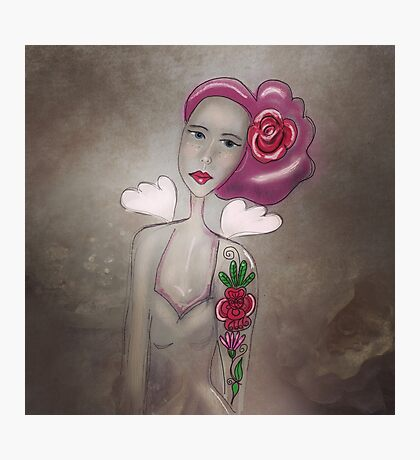 Rockabilly rose Photographic Print
