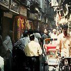 Narrow Street in Old Delhi,India by Patricia127