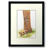 Peeing- the Stray Dog Framed Print