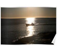 coming home. fishing boat tasmania Poster