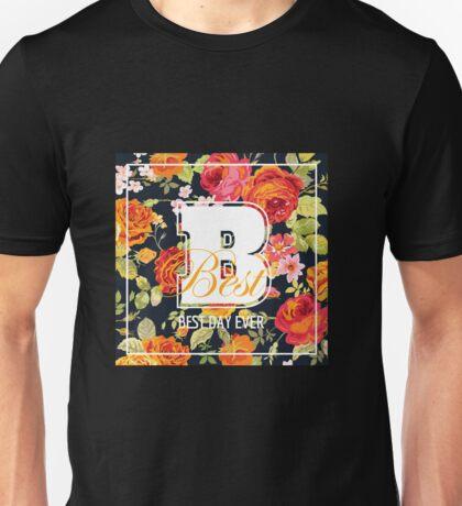 Shabby Chic Flowers Graphic Design Unisex T-Shirt