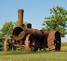 Antique Tractor - A Rusty Relic on a Farm by Georgia Mizuleva