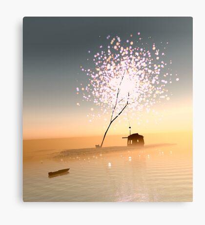 Barn on a magical island. Canvas Print