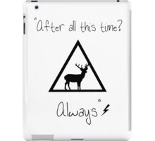 After all this time? iPad Case/Skin