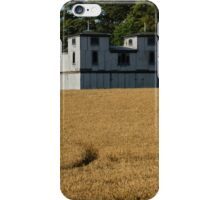 The Ancient Double Tower Barn in Golden Wheat iPhone Case/Skin