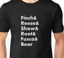 Finch&Reese&Shaw&Root&Fusco&Bear Unisex T-Shirt