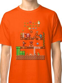 Pixel game characters fighting Classic T-Shirt