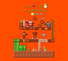 Pixel game characters fighting Unisex T-Shirt