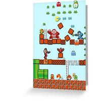 Pixel game characters fighting Greeting Card