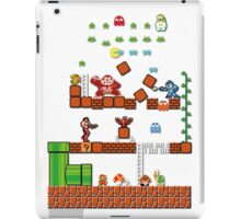Pixel game characters fighting iPad Case/Skin