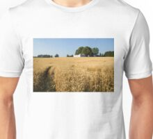 A Path in the Golden Wheat Field Unisex T-Shirt