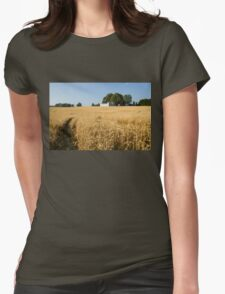 A Path in the Golden Wheat Field Womens Fitted T-Shirt