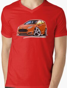 Ford Fiesta (Mk7) ST Orange [NoPlate] Mens V-Neck T-Shirt