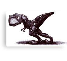 Cute but dangerous baby T-Rex Canvas Print